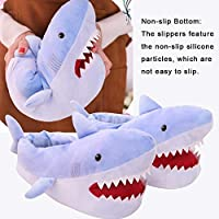 Sliveal Unisex Shark Plush Slippers Nonslip Winter Slippers For Men Women Kids sale 2019 excitement