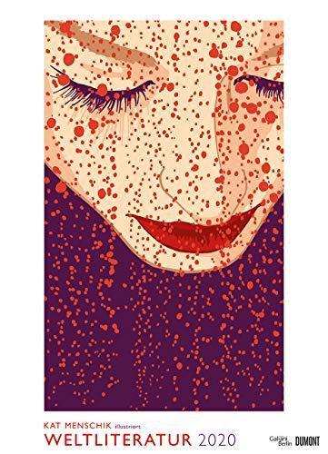 Kat Menschik illustriert Weltliteratur - Literarischer Posterkalender in Bildern 2020 - Wand-Kalender von DUMONT - Format 49,5 x 68,5 cm