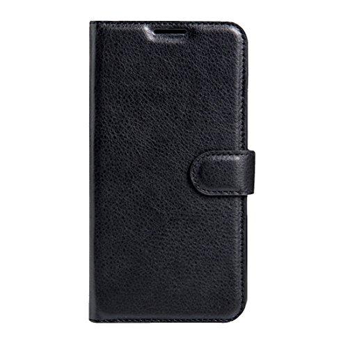 Weeksu Neu for Lenovo k6 Note litschi textur horizontal flip Ledertasche mit magnetschnalle & Halter & kartensteckplätze & Brieftasche (schwarz) (Color : Black)