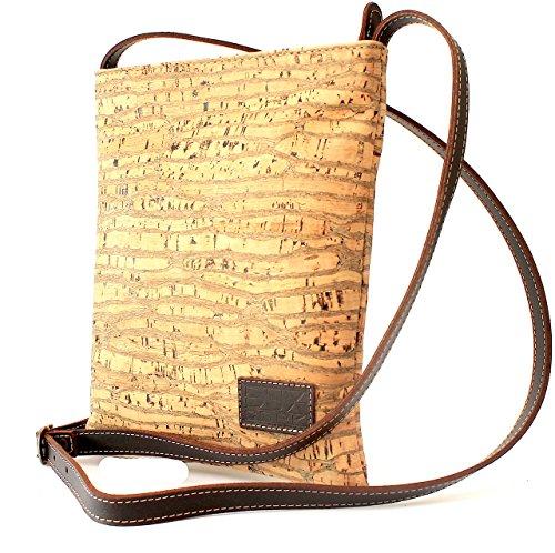 CORK CROSS-BODY BAG ECO-FRIENDLY by Dux Cork GENUINE PORTUGUESE PREMIUM Cork Fabric 100% QUALITY GUARANTEE