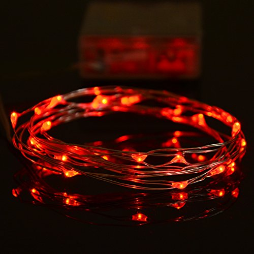 Fairy-Lights-Syhonic-2-Pack-2M-20-LEDs-Battery-Powered-Silver-Wire-String-Lights-Halloween-Christmas-lights-Indoor-starry-lights-for-Bedroom-Jars-Garden-Outdoor-Camping-Wedding-Party-Festival-Tree-Red