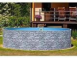 Mountfield AZURO Vario Stone V6 - Piscina con Parete in Acciaio, 550 x 120 cm, Senza Filtro