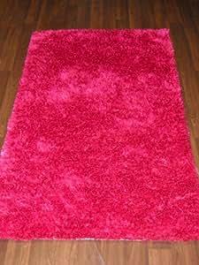 Verve Super Doux Rose Vif Tapis à poils longs 80cm x 140cm environ 5x 3