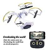 LBKR Tech FPV RC Drohne, Wifi Live RC Quadcopter mit HD-Kamera - 2,4 Ghz 6-Achsen-Gyro 4-Kanal-Fernbedienung UAV-Drohne mit Höhe Halten, Headless, Ein Schlüssel abheben, Landung, Return