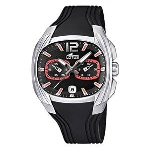 Reloj analógico Lotus 15756/6 de cuarzo para hombre con correa de plástico, color negro