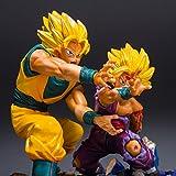 Dragon Ball Figurita Goku Super Saiyan y su hijo de choque Gohan