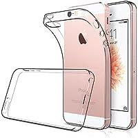 Funda iPhone 5s / SE ( Pack of 2), Simpeak funda iPhone SE Carcasa iphone 5s / 5 funda Transparente Silicona TPU (4,0 Pulgadas)