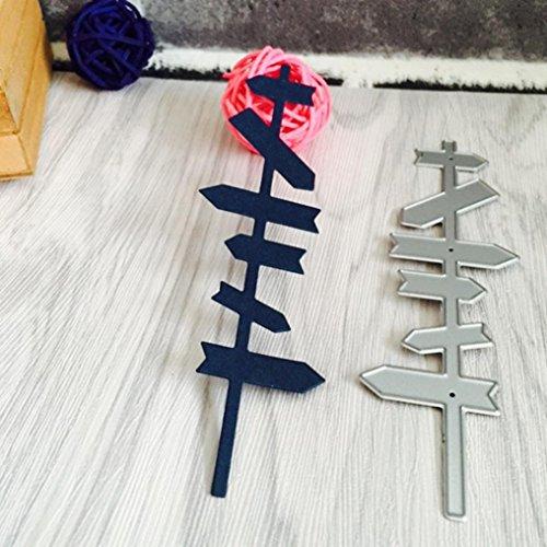Fustelle per Fustellatrice, FNKDOR Metallo Fustella Stencil Scrapbooking DIY Album Foto, Accessori per Big Shot e altre macchina (I)