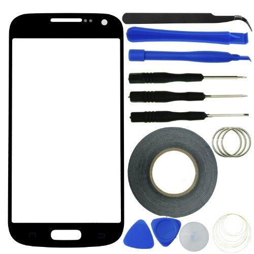 Eco Fused displayaustausch-Kit für Samsung Galaxy S4Mini inkl. Ersatz Glas/Tool Kit/Aufkleber Klebeband/Pinzette/Mikrofaser Reinigungstuch/Bedienungsanleitung