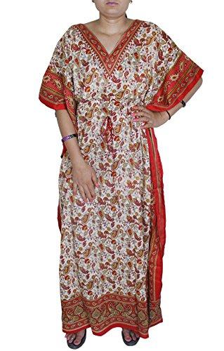 Weihnachtsgeschenke für Frauen Sommerkleid Damen Long Beach Big Size Viskose Kaftan (Kostüme Arabischer Kaftan)