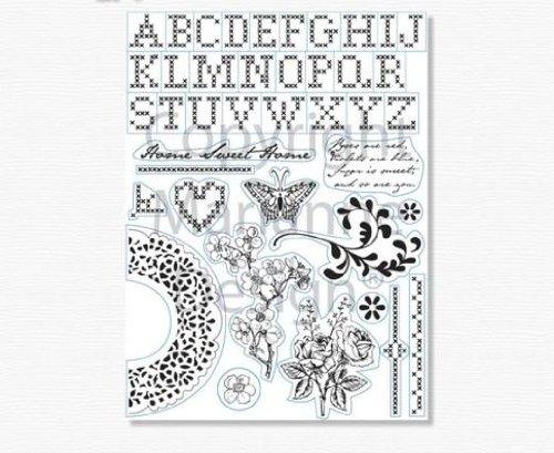 Marianne Design MAREC0121 Clear Silikonstempel, Kreuzstich, zum Stanzen Bastelarbeiten und Präzision Stamping Papercrafts, Kunststoff, transparent, 200x90x5 -