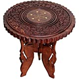 Worthy Shoppee Handicrafted End Table (Wooden, Brown)