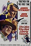 ODSAN The Man Who Shot Liberty Valance, John Wayne, James Stewart, 1962 - Premium-Filmplakat Reprint 24x36 Inch Ungerahmt