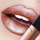 CICIYONER Damen Metall Lippenstift Lip Gloss Liquid Lippe Kosmetik, 24 Farben (20 #)