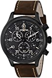 Timex Expedition Men's Quartz Watch with Brown Dial Chronograph Display and Brown Leather Strap T49905D7