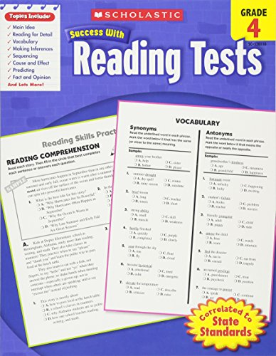 Reading Tests, Grade 4 (Scholastic Success with Workbooks: Tests Reading)