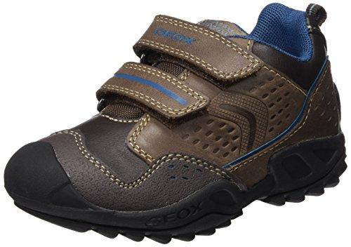 Geox Jungen J New Savage Boy A Boots, Braun (Brown/Dk PETROLC6F4Q), 24 EU (Schuhe Leder Brown Dk Kinder)