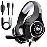 Beexcellent Stereo Gaming Headset für PS4 Xbox One PC mit Noise Cancelling Mikrofon Bass Surround...