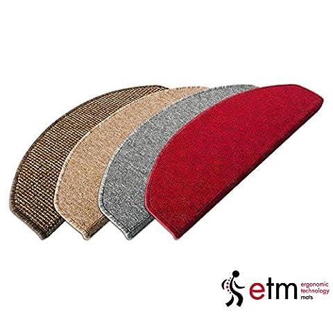 Lot de 15 marchettes d'escalier etm® en couleurs différentes   sécurité et design sur vos marches   autocollantes   25x65cm - gris