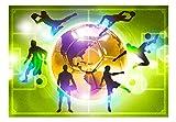 murando - Fototapete Fussball 400x280 cm - Vlies Tapete - Moderne Wanddeko - Design Tapete - Wandtapete - Wand Dekoration – Fußball Sportplatz grün Kindertapete Kinderzimmer Kinder i-A-0093-a-d Test
