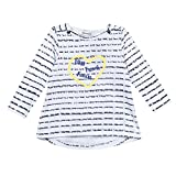 3 Pommes Baby-Mädchen Langärmeliges Oberteil French Riviera 1, Blanc (Blanc (Blanc)), 12-18 Monate
