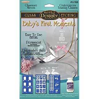 Armour Etch Designer Stencil, Pak Baby's First Moments