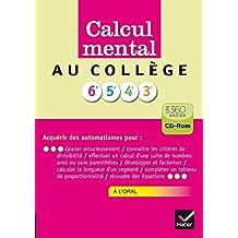 Calcul mental collège - Cd Rom version enseignant