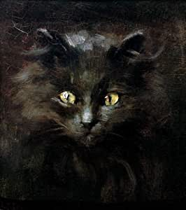 "Reproduction d'Art: Julius Adam II ""Porträt einer Katze"" 93 x 105"