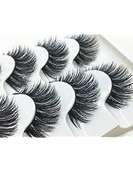 LCLrute NEUE 1 Box Luxus 3D Falsche Wimpern Flauschigen Streifen Wimpern Lange Natürliche Partei (Schwarz)