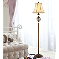 XCO XX American Country Vintage Wrought Iron Floor Lamp Minimalist Bedroom Den Living Room Floor Lamp