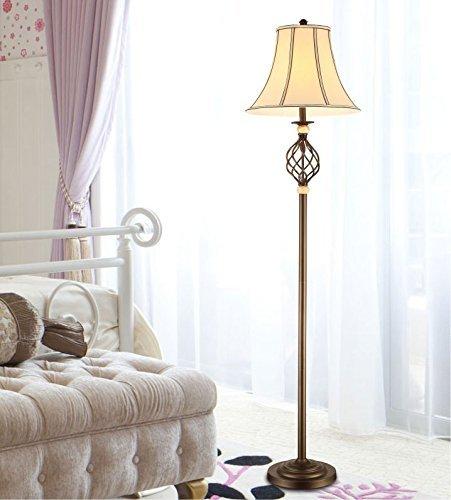 XIN American Country Vintage Schmiedeeisen Stehlampe minimalistischen Schlafzimmer Den Wohnzimmer Stehlampe (Schmiedeeisen Wasserhahn Dusche)