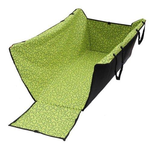 Amzdeal Tapis de Protection étanche Lavable Hamac/Couverture/Housse de Protection pour les sièges arrière de Voiture Pour chien/chat pendant Voyage-Avec impression des Micky-Vert