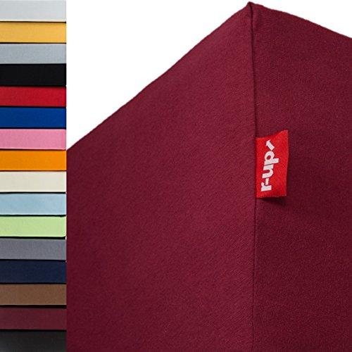r-up Passt Spannbettlaken 140x200-160x200 bis 35cm Höhe viele Farben 100{6904947c4d3c60852478a1526cdca55a9abfacb7070b3571fdbb79036bd69a4b} Baumwolle 130g/m² Oeko-Tex stressfrei auch für hohe Matratzen (Bordeauxrot)