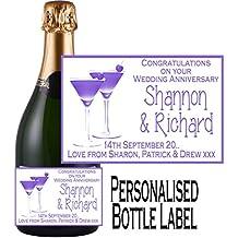 Eternal Design personnalisé anniversaire étiquette de bouteille de champagne Ancl 2