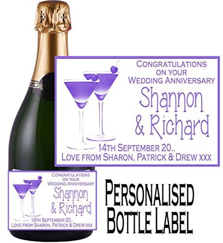 Champagner Personalisierter (Eternal Design Personalisiertes Flaschenetikett Anniversary Champagner ancl 2)