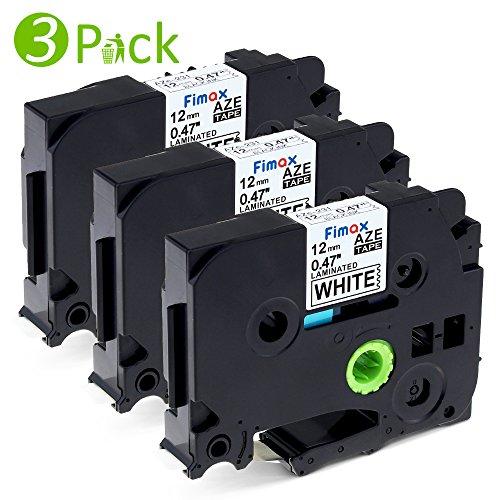 Fimax 3 Combo Pack Schriftband für Brother TZe-231 12mm schwarz auf weiß laminiert kompatibel mit P-Touch 1000W 1010 1090 1830VP 2030VP