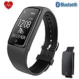 Eonfine Fitness Armband Uhr mit Pulsmesser,Wasserdicht IP67 Fitness Tracker Aktivitätstracker Bluetooth Smart-Armband Schrittzähler für iOS und Android Handys