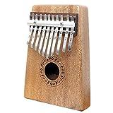 Gecko en acajou Tone Bois Kalimba, Premium de qualité professionnelle doigt pouce Piano Instrument Cadeau (10touches, Acajou)
