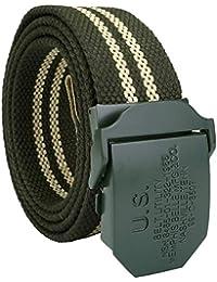 HaiDean Cinturón De Tela Para Lienzo Cinturón Hombre Lienzo Mili Modernas  Casual Daily R Cinturón Jeans Cinturones… 0f5606c74616