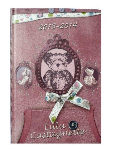 lulu-castagnette-agenda-2013-2014-1-jour-par-page-format-12-x-17-5-cm-couverture-rigide-rose-fourniture-scolaire-neuf