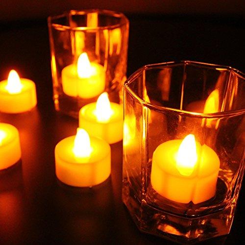 Velas LED Velas Sin llama velas LED de Navidad 12 piezas incl.accesorios para el hogar, bares, fiestas