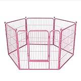 AA-GWCWWWL Recinto del recinto di Media e Piccola del Cane del recinto di Sicurezza del recinto del recinto del Cane della Rete Fissa dell'animale Domestico/Rosa