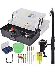 vidaXL Kit de pêche avec lancer télescopique 1,4 m et moulinet