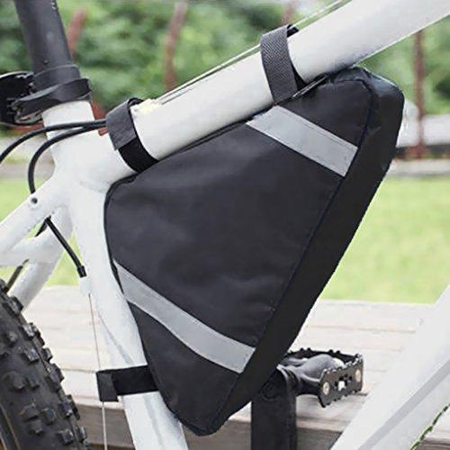 FakeFace Rahmentasche Dreieckstasche Oberrohrtasche Fahrradtasche Werkzeugetasche Satteltasche Bike Tasche Front Triangle Bag Schwarz