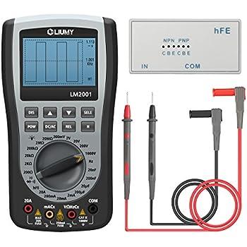Oscilloscope Multimètre, GOCHANGE LED Multimetre Portable avec 200ksps A/D Fonction de Capture Automatique de Forme d'Onde, Tension/Courant