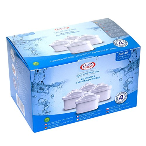 AquaCrest AQK-07 Compatible Brita Mavea Maxtra 106832 Jug Filter Cartridges (12)