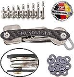 Organizador de llaves de carbono, producto de calidad superior fabricado en Alemania, sistema especial de fijación para hasta 18llaves gris oscuro