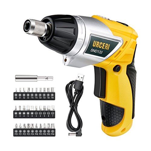 URCERI-SND133-Visseuse-Sans-Fil-Max-61-Torque-Couple-6Nm-200rpm-36V-2000mAh-Li-Ion-Rechargeable-30-Embouts-1-Bit-dExtension-1-Cble-Micro-USB
