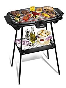 princess 2 in 1 elektrogrill xxl tischgrill und bbq standgrill in einem mit gro er. Black Bedroom Furniture Sets. Home Design Ideas