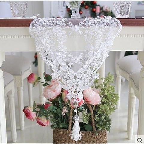 XXTT-Shilei han bordado romántico comedor mesa corredor mesa corredor corta el mantel de mesa de té del bordado de Gasa ,